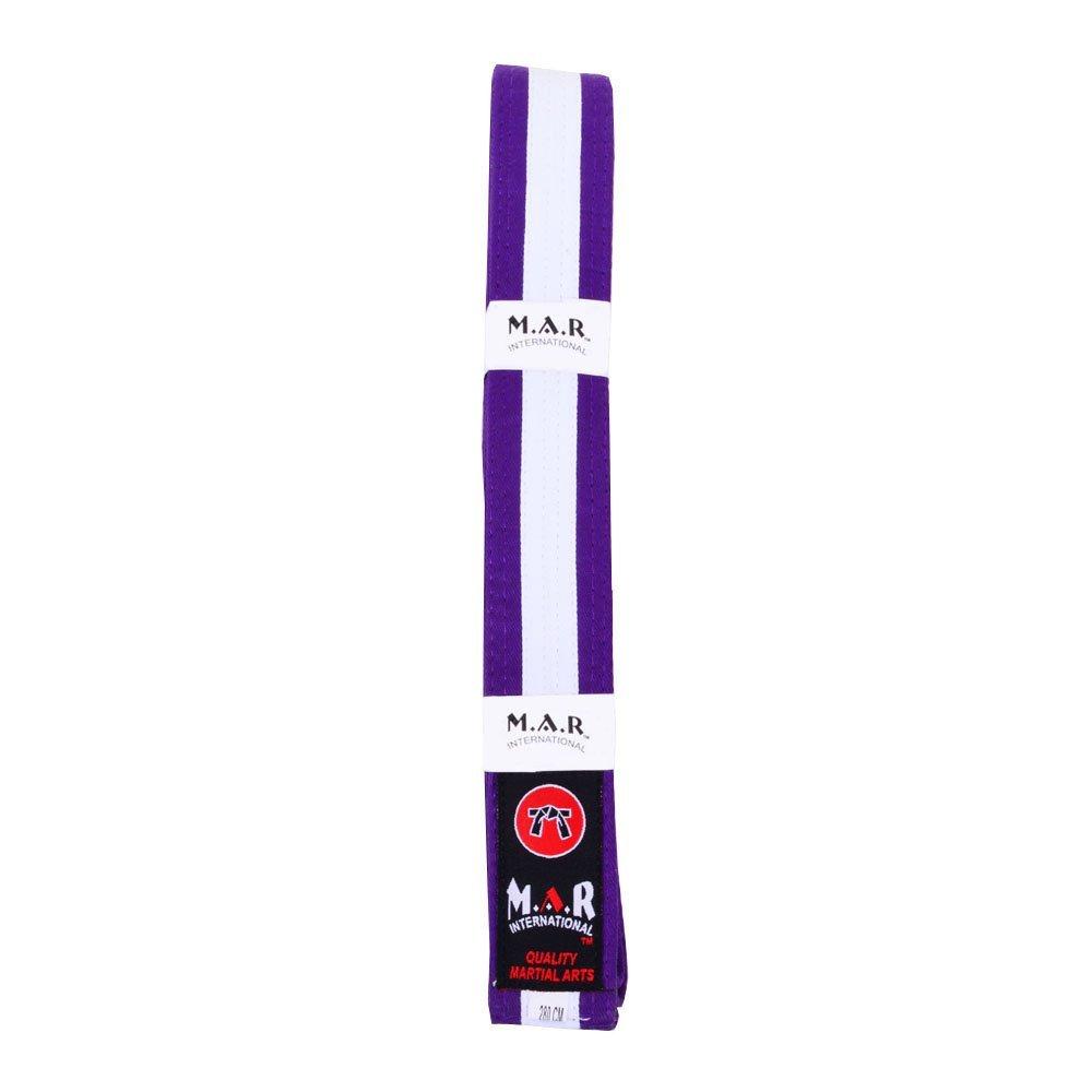 M.A.R International Ltd. MAR Purple & White Stripe Belt -Karate Belts/Judo Belts