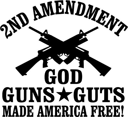 Guns God Guts 2nd Amendment Vinyl Decal Sticker Car Window Bumper Wall Decor- 20