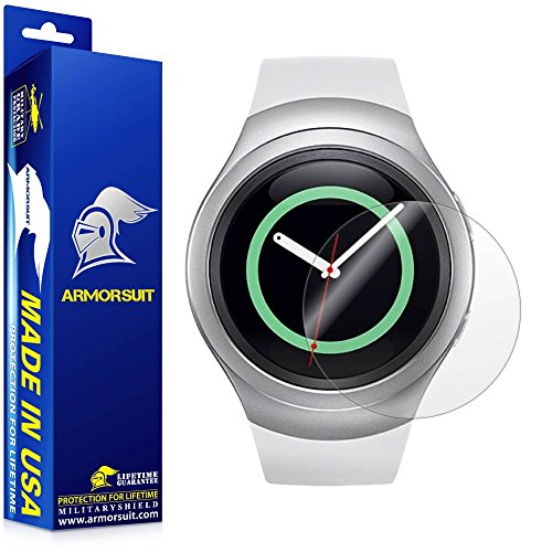 ArmorSuit MilitaryShield - Samsung Gear S2 Smartwatch Screen Protector [2-Pack] Anti-Bubble and Extream Clarity HD Shield with Lifetime Replacements (Samsung Gears Screen Protector compare prices)