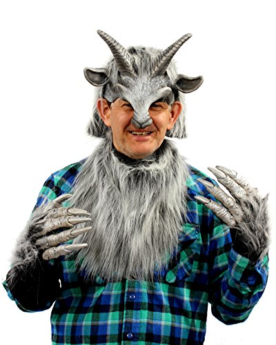 [Zagone Studios Silver Goat Boy Costume Kit] (Pan Goat Man Costume)