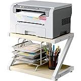 Desktop Stand for Printer - Desktop Shelf with Anti - Skid Pads for Space Organizer as Storage Shelf, Book Shelf, Double Tier