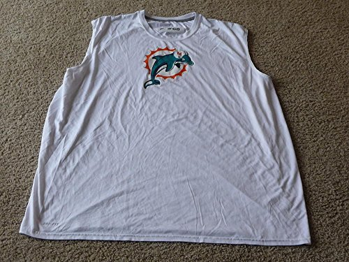 2010-2013 RICHIE INCOGNITO MIAMI DOLPHINS NFL GAME ISSUED SLEEVELESS SHIRT 4xl