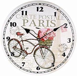 Reloj de pared diam.CM. 33 dibujo bicicleta: Amazon.es: Hogar