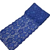 6.2 Inch Stretch Lace Trims Floral Embroidered