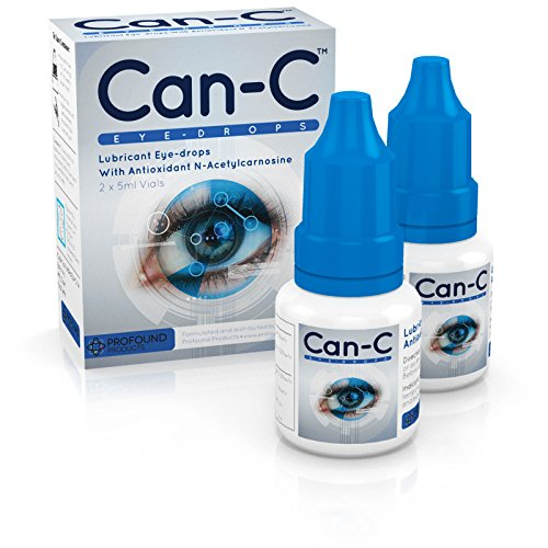 Can-C (N.A.C.) Eye Drops, Lubricant eyedrops with antioxidant n-acetylcarnosine. 2 Vials of 5 ml Profound Products