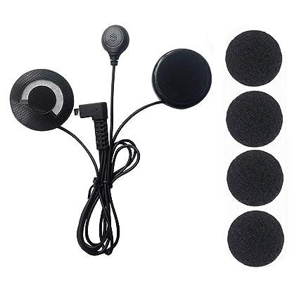 Amazon.com: EUGNN - Auriculares Bluetooth para casco de ...