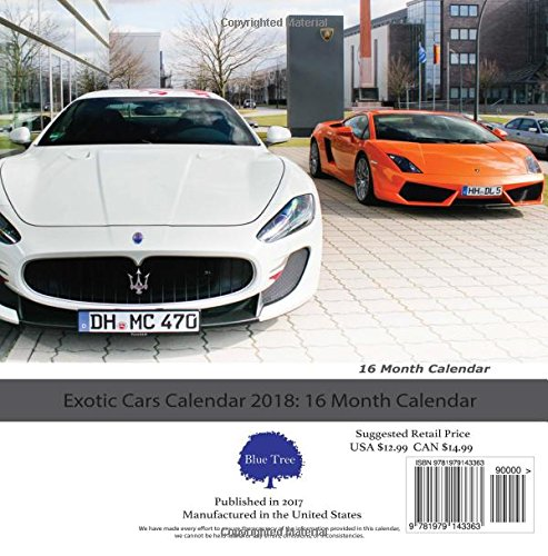 Exotic Cars Calendar Month Calendar Paul Jenson - Sports cars calendar 2018