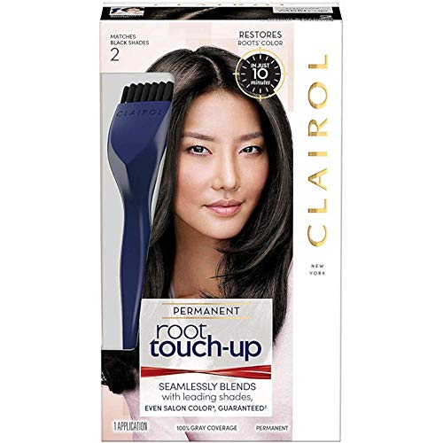 Clairol Permanent Root Touch-Up, Black [2], 1 ea (Pack of 4) ()