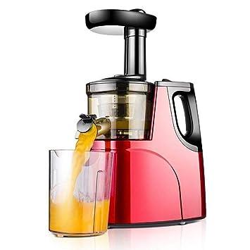 HhGold Exprimidor de Juicer Exprimidor de la casa Automático Multifuncional Mini Jugo de Frutas y Verduras Máquina de Leche de Soja, Rojo (Color : Rojo, ...