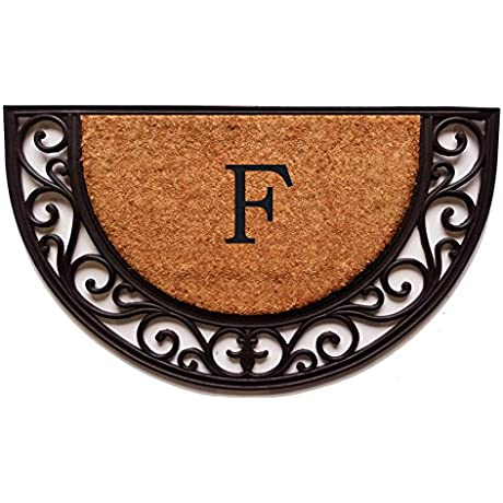Home More 100141830F Plantation Arch Monogram Doormat 18 X 30 Letter F