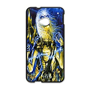 HTC One M7 Cell Phone Case Black Iron Maiden wehc