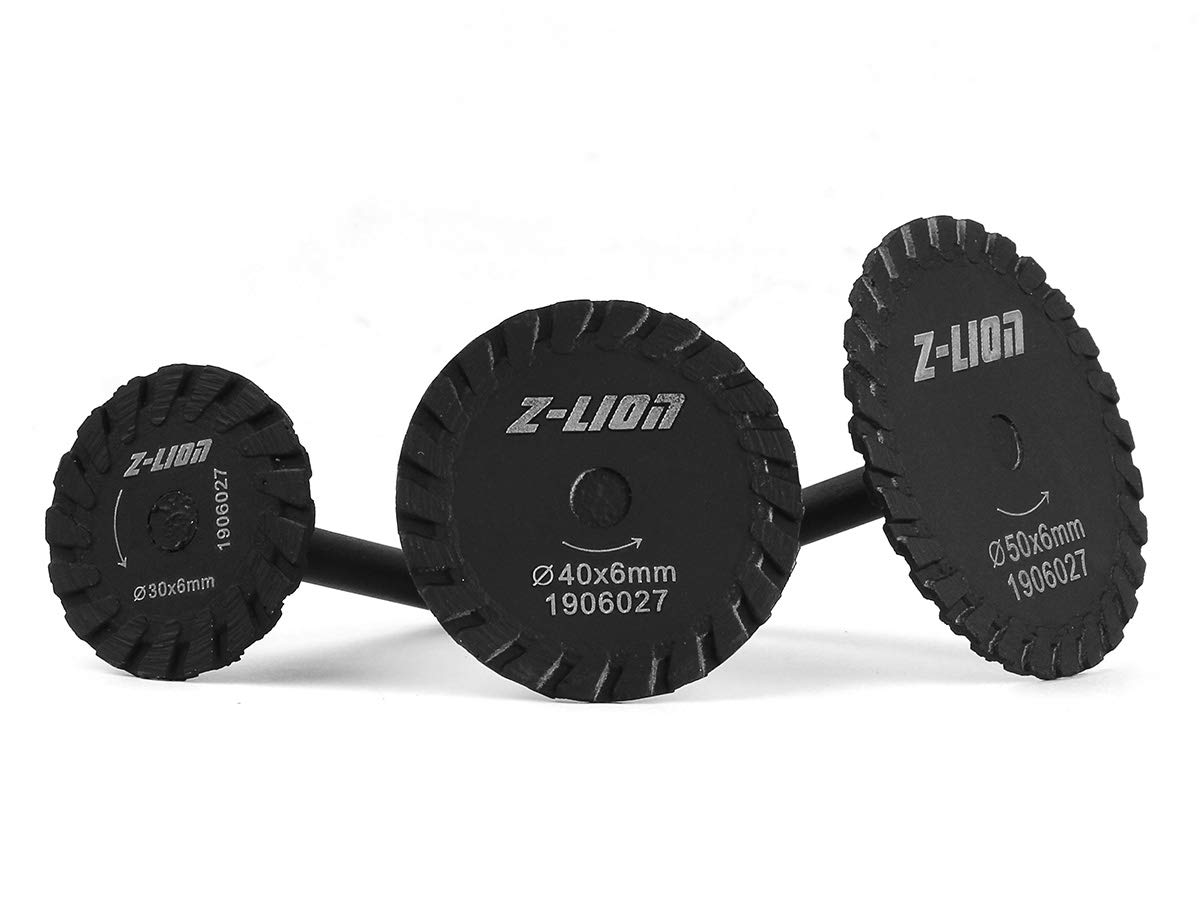 Mini Diamond Cutting Disc Wheel Engraving Saw Blade Set for Rotary Tool Concrete Granite Sandstone by Z-LION