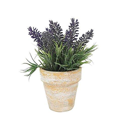 Artificial PVC Flowers Lavender Bouquet in Paper Pulp Pot Artificial Plant for Home Decor
