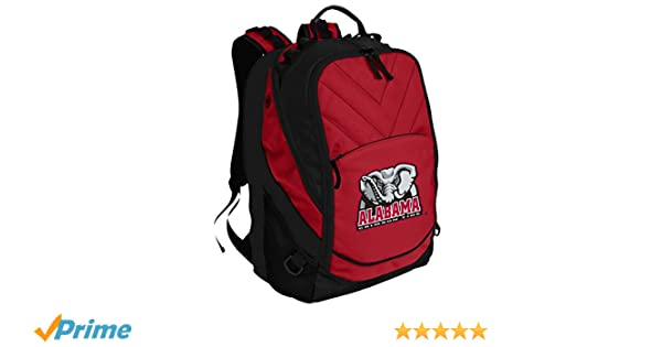 f03bab2b031f Broad Bay University of Alabama Backpack Red Alabama Laptop Computer Bags