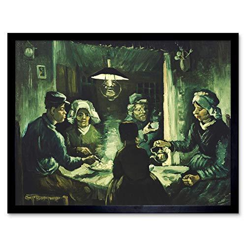 Potato Eaters Van Vincent Gogh The (Vincent Van Gogh The Potato Eaters Art Print Framed Poster Wall Decor 12x16 inch)