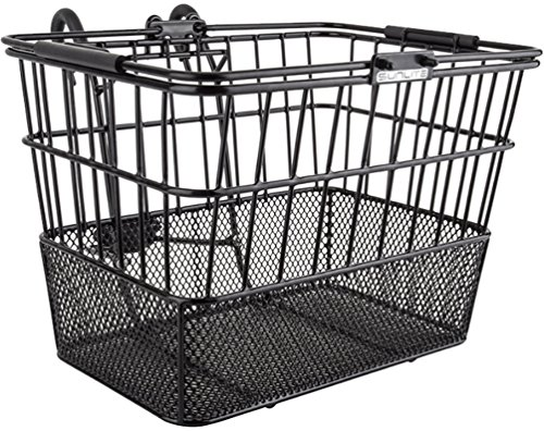 Front Bike Basket - Sunlite Standard Mesh Bottom Lift-Off Basket w/Bracket, Black