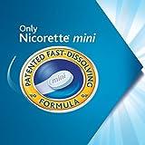 Mini Nicorette Nicotine Lozenge Stop Smoking Aid, 2 mg, Mint Flavored Smoking Cessation Product, 81 Count