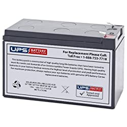 12V 9Ah F2 Sealed Lead Acid (SLA) Replacement Battery for APC Back-UPS ES 750VA BE750G