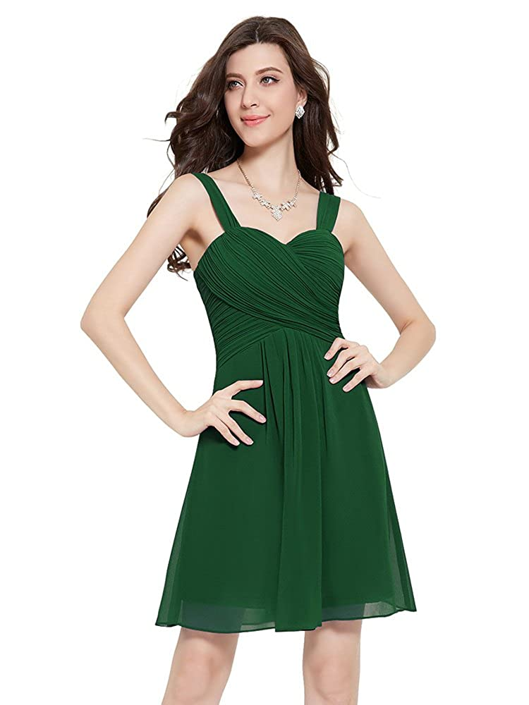 Lafinebride Womens Brief Double-shouder Bridesmaid Dress Homecoming