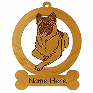 Akita Laying Down Ornament 081128 Personalized With Your Dog's Name 5