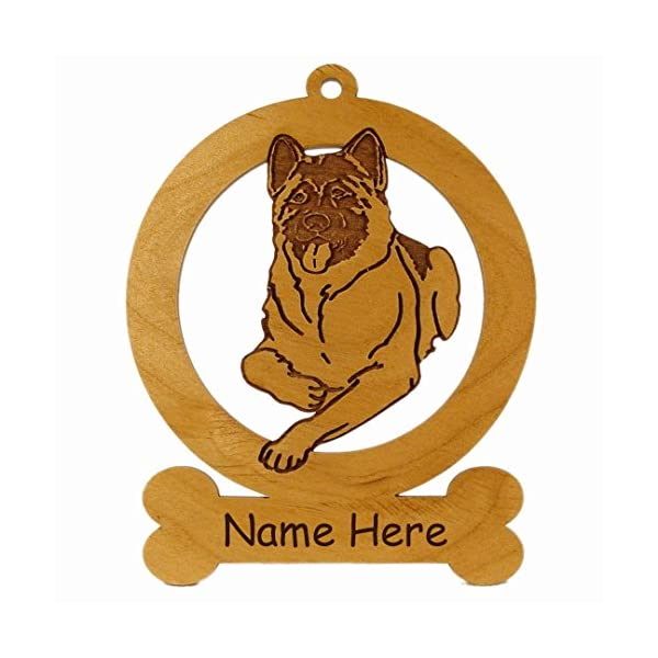 Akita Laying Down Ornament 081128 Personalized With Your Dog's Name 1