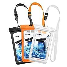 Mpow Waterproof Case,Mpow Universal Dirtproof Shockproof Snowproof Pouch Waterproof Case Bag for iPhone 7/7 Plus/6s / Plus / 6 / 5s / 5 / 5c, Samsung Galaxy S7 / S6 edge / S5 / Note 4 / 3 / 2