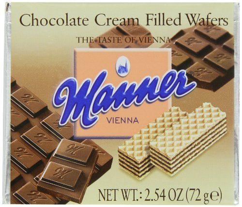 Chocolate Filled Wafers Cream (Manner Chocolate Cream Filled Wafers, 12-Count, 2.54-Ounce Packages (Pack of 2))
