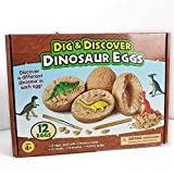 BEAJADE 12pcs Dig It Up! (Dinosaur Eggs Dig Kit) Archaeological Excavation Toys (12 pcs)