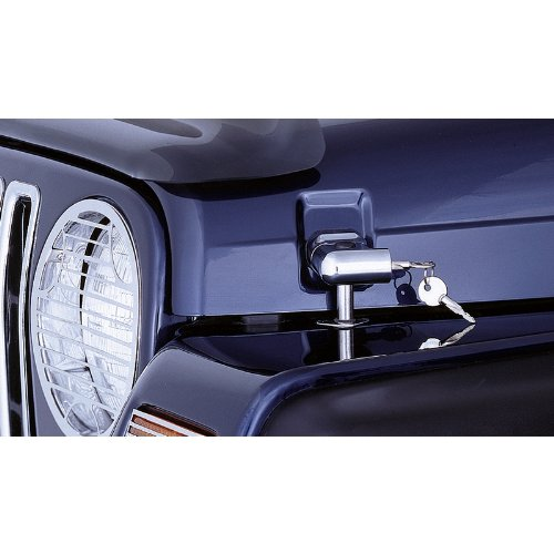 Rugged Ridge 11302.03 Chrome Locking Hood Catch - Pair