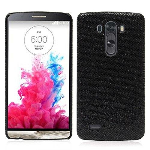 Colorful Luxury Sparkle Bling Glitter Diamond Hard Case Cover for LG Optimus G3 D855 D850 (black)