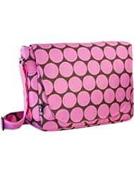 Wildkin Big Dots Pink Laptop Messenger Bag