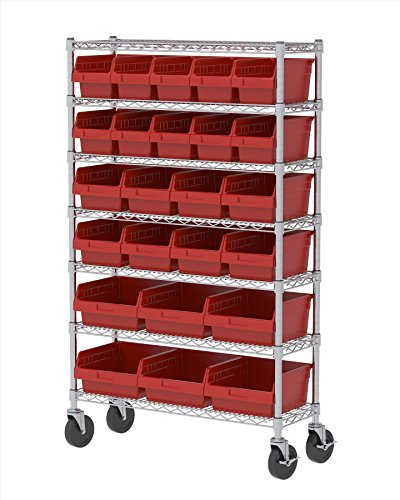 Akro Mils AWS1236MSMAXR Industrial 7 Shelf Certified