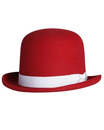 5b983413bcc Tall Derby Bowler Hat in Red at Amazon Men s Clothing store