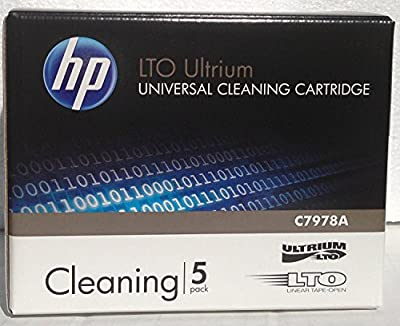 5 Pack HP C7978A Universal LTO Ultrium Cleaning Cartridge (New) from hp