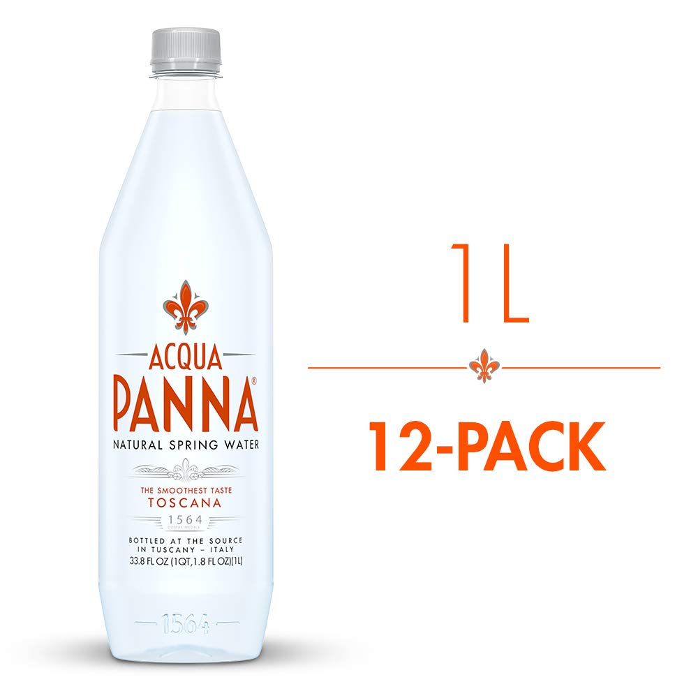 Acqua Panna Natural Spring Water, 33.8 Oz Plastic Bottles (Pack Of 12)