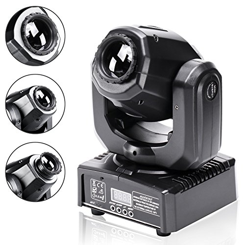 Stage Lighting DJ Moving Head Lights 50W LED Spot 4 Color Light with 7/10 Channel for Bar Club Party Disco Show Bands DMX by ()