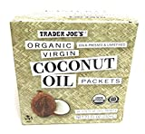 Trader Joe Organic Virgin Coconut Oil Packets (Pack of 14 Packets), Net Wt. 7.1 fl oz review