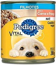 Ração Úmida Para Cachorros Pedigree Lata Patê de Carne e Frango Filhotes 280g