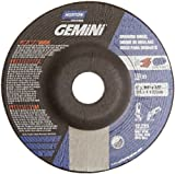 Norton Gemini Depressed Center Abrasive Wheel, Type 27, Aluminum Oxide, 7/8'' Arbor, 5'' Diameter X 1/8'' Thickness (Pack of 25)