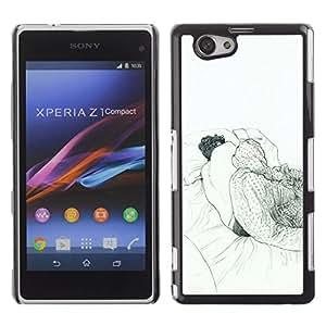 Shell-Star Art & Design plastique dur Coque de protection rigide pour Cas Case pour Sony Xperia Z1 Compact / Z1 Mini / D5503 ( Sleeping Dream Art Drawing Pencil Man Bed )