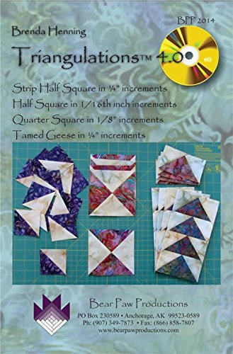 Bear Paw Quilting (Bear Paw Triangulations 4.0 Software)