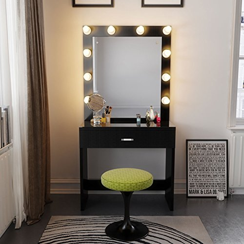 Tribesigns vanity set with lighted mirror makeup vanity for Dressing table with lights