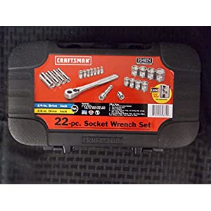 "Craftsman 22 Piece SAE Socket Wrench Set from 5/32-7/8"", Made in USA, Part #934874"