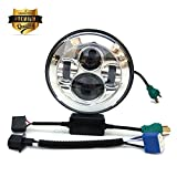 7 motorcycle headlight assembly - 7 Inch 45W Round LED Projector Daymaker Headlight Hi/Lo Beam Motorcycle Headlamp Light Bulb for Harley Davidson