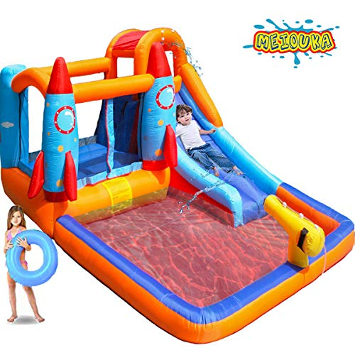 MEIOUKA Rocket Inflatable Bounce Castle House with Water - Import It All