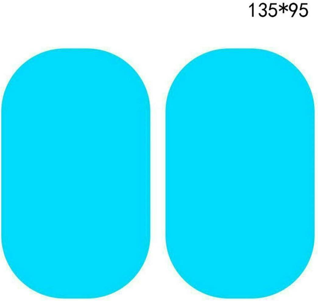 Rouku Espejo retrovisor del coche Pel/ícula a prueba de lluvia Vista posterior del coche Espejo reflectante Pel/ícula impermeable D/ía lluvioso Nano Pegatina de protecci/ón antivaho