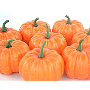 ShellKingdom Artificial Mini Pumpkin for Decoration, Fall Pumpkin for Home//Wedding Thanksgiving/Halloween/Party Decoration 12 PCS 8