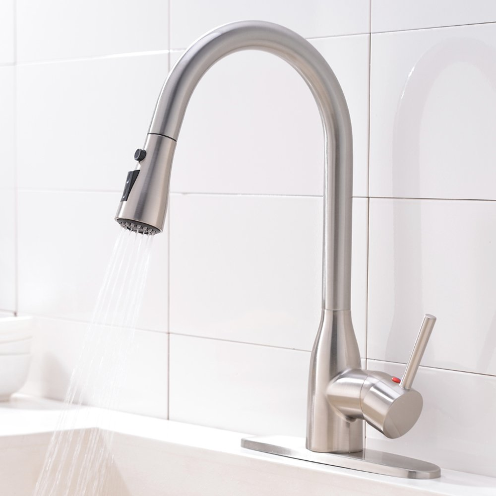 Ufaucet Modern Commercial Lead-free Solid Brass Single Lever Pause ...