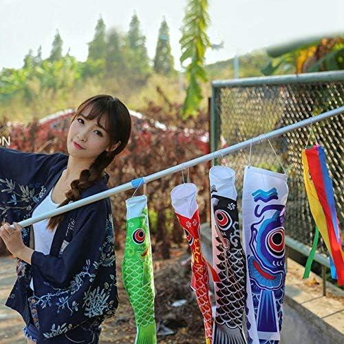 こいのぼり鯉風ソックスこいのぼりカラフルな魚の旗壁の装飾を吊るします GBYGDQ (Color : Pink)