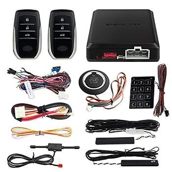 Image of Alarm Systems EASYGUARD EC002-T2 PKE car Alarm System keyless Entry auto Start Starter Push Start Button Password keypad Rolling Code